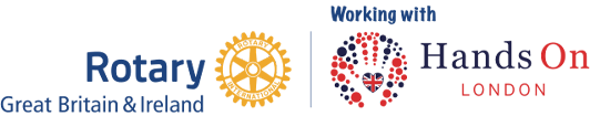 Rotary and Hands On London Joint Logo